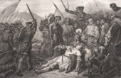 Battle of Ravenna (1512) - Italy - Holy League - Italian Wars - Death of Gaston de Foix-Nemours (Ary Scheffer)