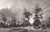 Sea battle of Texel (1694) - Nine Years' War - Louis XIV of France - Franco-Dutch War