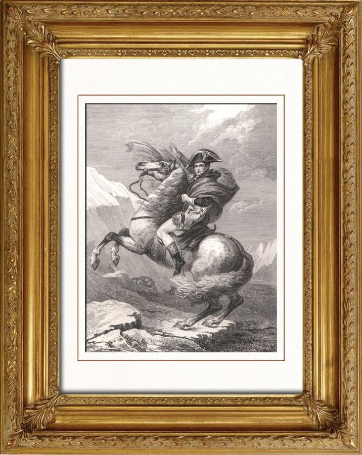 Antique Prints Napoleonic Wars Napoleon Crossing The