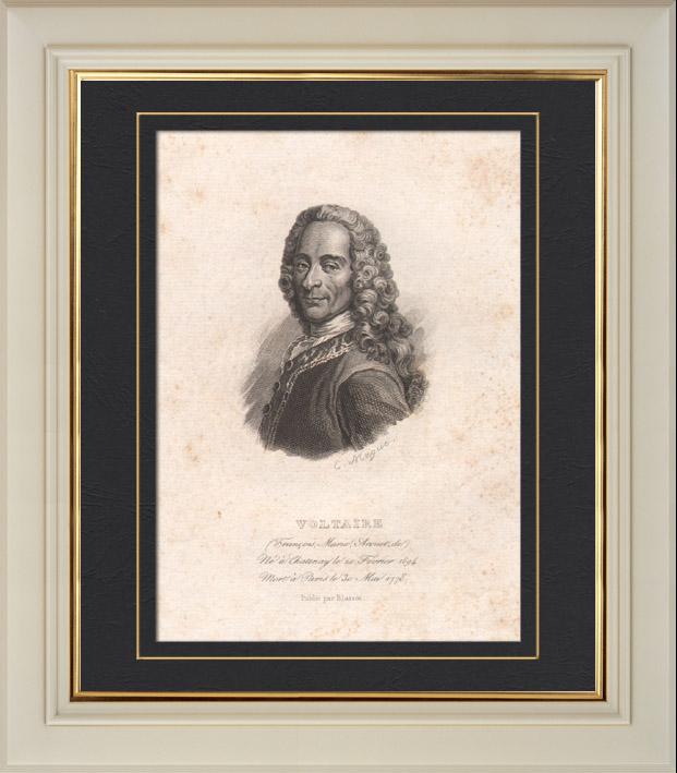 Antika tryck portr tt av voltaire 1694 1778 for Cid special bureau episode 13