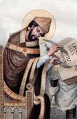 Portrait of Saint Dunstan - Archbishop of Canterbury (909-988)