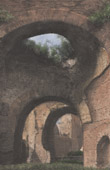 View of Rome - The Baths of Caracalla (Italy)