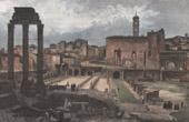 View of Rome - Roman Forum - Forum Romanum (Italy)