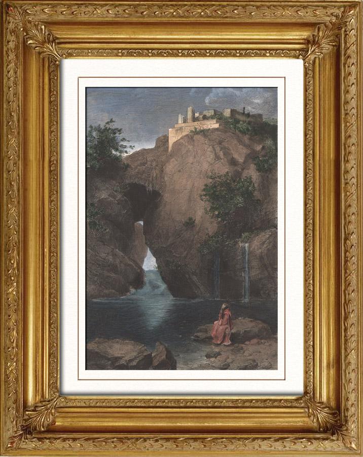 Stampe antiche veduta di sorrento bagno di diana napoli campania italia incisione - Il bagno di diana klossowski ...