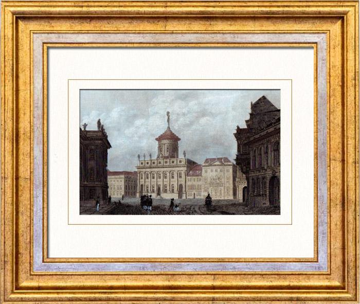 Gravures Anciennes & Dessins   Vue de Potsdam - Hôtel de Ville (Allemagne)   Taille-douce   1842