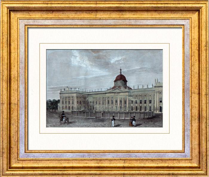 Gravures Anciennes & Dessins   Vue de Potsdam - Nouveau Palais - Sanssouci (Allemagne)   Taille-douce   1842