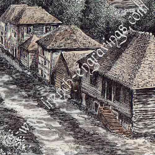 Stampe antiche stampa di basse terre guadalupa for Stampe di campagna francese