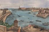 Ansicht von Malta - La Valletta - Hafen