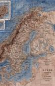 Alte Karte von Schweden - Norwegen - D�nemark (Skandinavien)