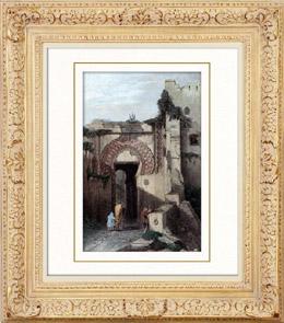 Vue de Tanger - La Porte de la Citadelle (Maroc)