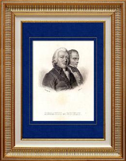 Portrait de Desault (1738-1795) - Bichat (1771-1802)