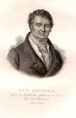 Gravure ancienne - Portrait de François Broussais (1772-1838) - Médecin Chirurgien