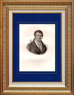 Portrait de François Broussais (1772-1838) - Médecin Chirurgien