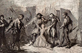 Mademoiselle de Sombreuil saves her father