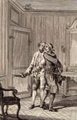 Antique print - Molière - Jean-Baptiste Poquelin - L'avare - The Miser - Comedy