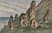 Pacific Islands - Easter Island - Colossal statues