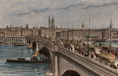 View of London - New London Bridge - Thames (England)