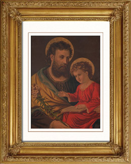 Saint Joseph and Jesus Child