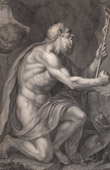 St Jerome Praying (347-420) - Catholic - Church Father