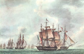Golden Age of the Sailing Ships - Naval Battle in Lissa - Vis - Adriatic Sea