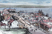 View of Quebec City (Canada) - French language - North America - Saint Lawrence River