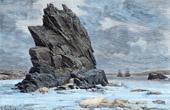 View of Newfoundland (Canada) - Island - Atlantic Ocean - Salvage Rock