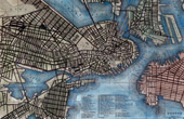 Antique Map of Boston (Massachusetts - United States of America)