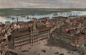 View of Antwerp - City Hall - Scheldt (Belgium)