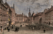 View of Munich - Marienplatz - Mary's Square (Germany)