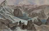 Stich von Arktis - Zirkumpolare - Gletscher