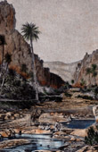 Ansicht von El Kantara Schlucht (Algeriens) - Oase