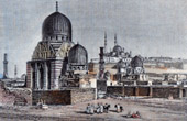 View of the Cairo - Tombs of  Caliphs (Egypt)