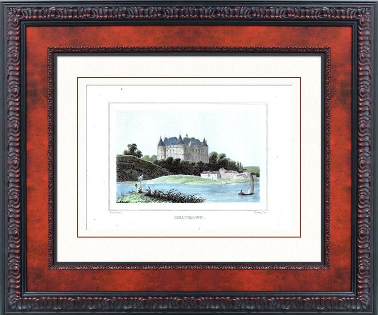 Gravures Anciennes & Dessins   Château de Chaumont-sur-Loire (Loir-et-Cher - France) - Monument Historique   Taille-douce   1840