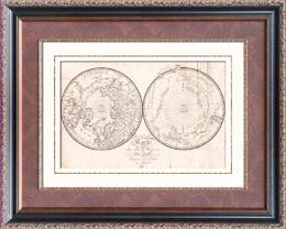 Buffon - Naturkunde - Karte der zwei Polaren Regionen - 1778