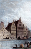 View of Ghent - Grand Canal and Spanish Houses (Belgium)