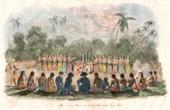 Tonga Islands - Tonga Tabu - Tongatapu - Bou-me� or Night Dance of the Women - James Cook