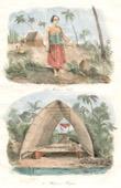 Tonga Inseln - Vavao - Mariner Gefangener Englischer Matrose - Schuppen f�r Pirogen