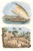 Tonga Inseln - Gro�e Piroge f�r den Krieg - Zeremonie Kava
