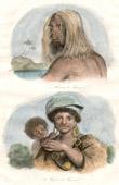 Stich von Vanuatu Inseln - Tanna Insel - Mann und Frau von Tanna