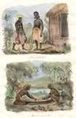 Santa Cruz Islands - Vanikoro - Woman of Vanikoro - Women Grating the Taro