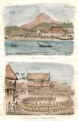 Antique print - Celebes - Sulawesi - Indonesia - Manado - War Dances of Harfours