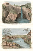 Antique print - Celebes - Sulawesi - Indonesia - Waterfall in Tondano