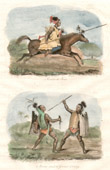 Print of Timor - Indonesia - Rider - Horseman - Warriors of Ombay - Traditional Costume