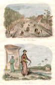 Antique print - Java - Jakarta - Street of Batavia - Indonesia - Javanese Chief