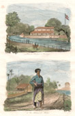 Print of Java - Indonesia - Palace of Surabaya - Inhabitant of Madura