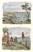 Antique print - Australia - Port of King George - Inhabitant