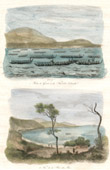 New Zealand - Naval Battle - Fleet of War - View of Bay of Islands - Northland