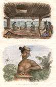 Marshall Islands - Ratak Chain - Interior of a Dwelling - Woman of the Saltikoff Islands