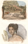 Palau Islands - Pelew Islands - Camp of the Captain Wilson - Wife of the Chief Abba-Thulle