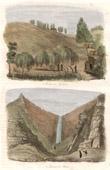 Stich von Insel St. Helena - Napoleons Grab - Briars Wasserfall